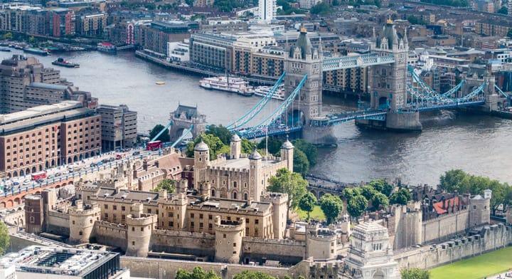 Tower of London fra luften