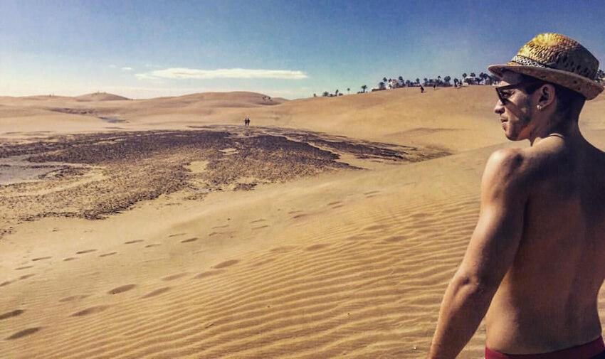 rute over klitterne til den homoseksuelle strand