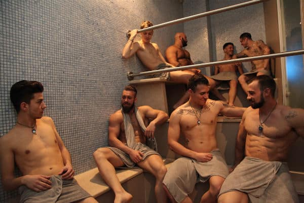 Gay sauna bath