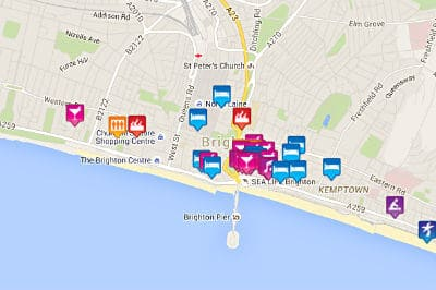 Brighton Gay Map 2019 Gay Bars Clubs Saunas Hotels More
