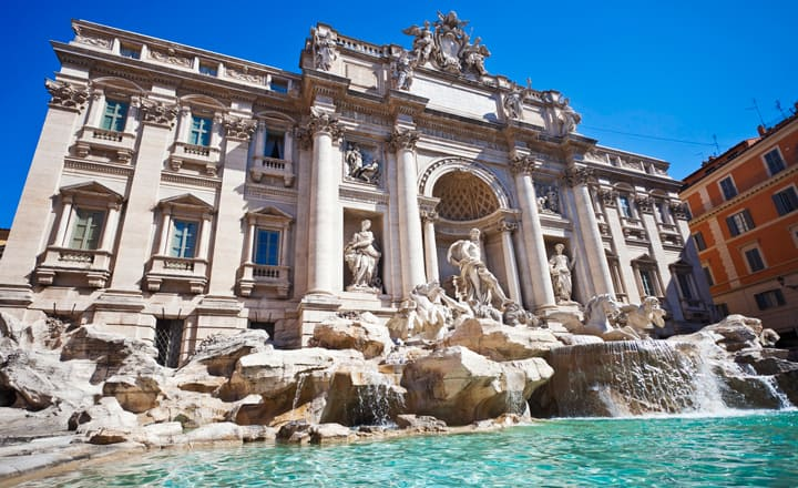 Fontana di Trevi a Roma