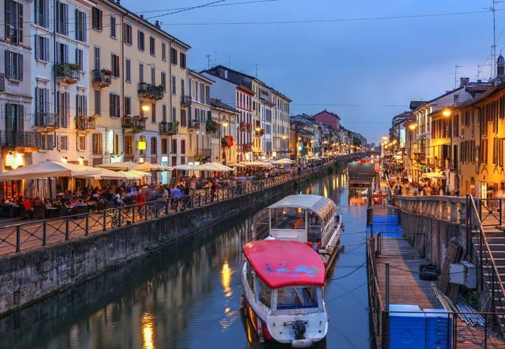 Milan at night