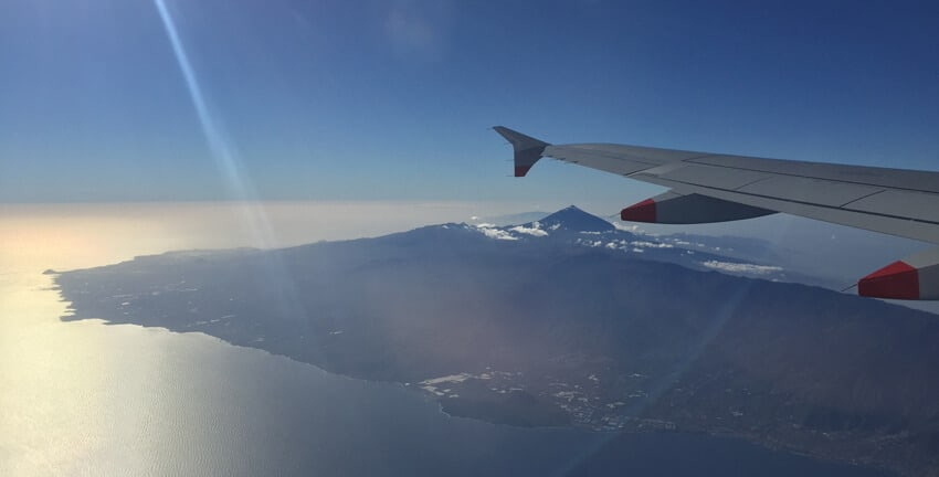 Tenerife from the air