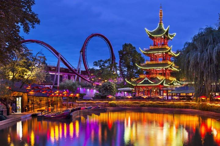 Theme park in Copenhagen Denmark