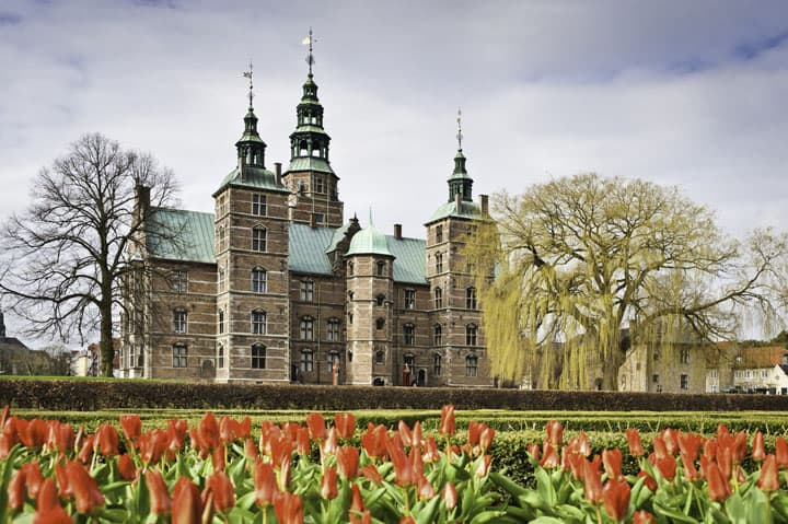 Rosenborg Castle and tulip
