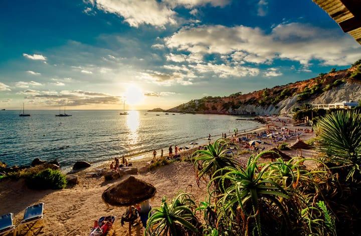 cala-dhort-beach-at-sunset