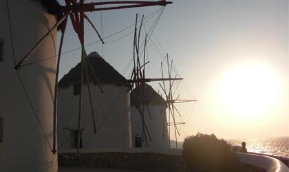 米科诺斯风车