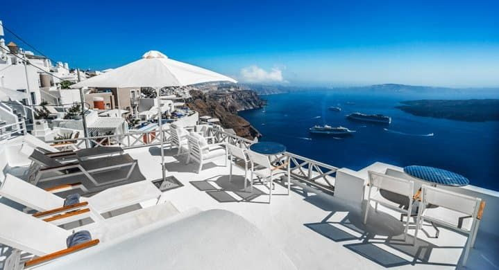 The Best Hotels On Santorini Are Perched Along Cliff Edge Overlooking Stunning Caldera In Or Close To Towns Of Fira Imerovigli And Oia
