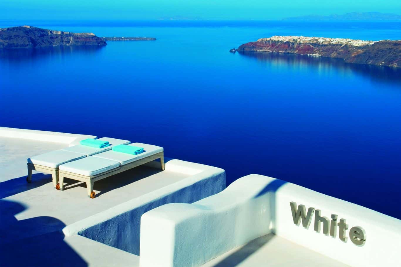 Hvid Santorini
