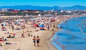 Playa de las Arenas e Playa de la Malvarrosa