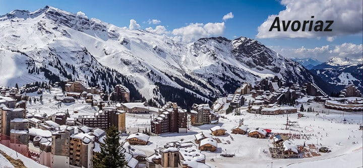 View of Avoriaz France