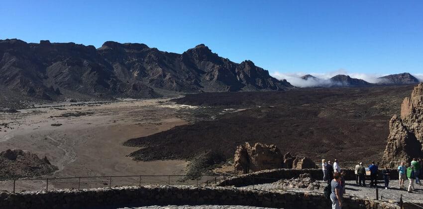 Champs de lave à l'approche de El-Teide-Tenerife
