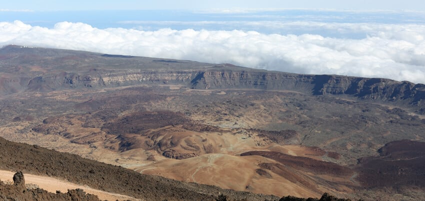 vue du sommet du Teide-Tenerife