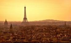 Eiffel Tower in gay Paris
