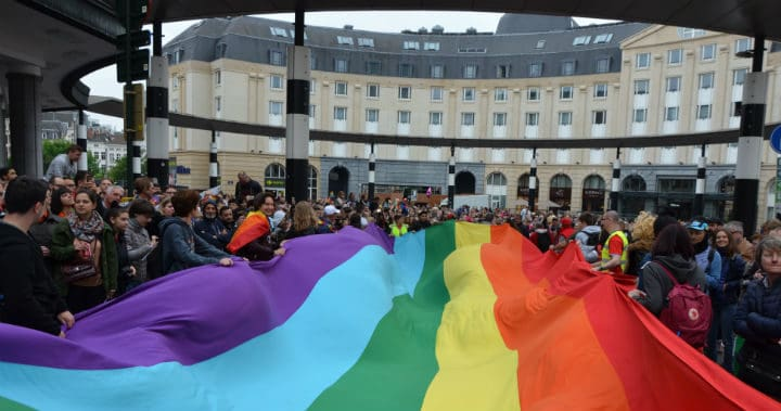 The Belgian Pride 2019 Pride festival LGBT event in Brussels