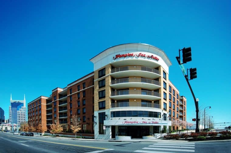 Hampton Inn and Suites Nashville Downtown Hotel Tennessee LGBT-Friendly Nashville Accommodations