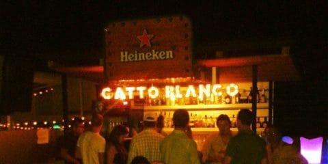 Barra do telhado de Gatto Blanco. cidade do Panamá