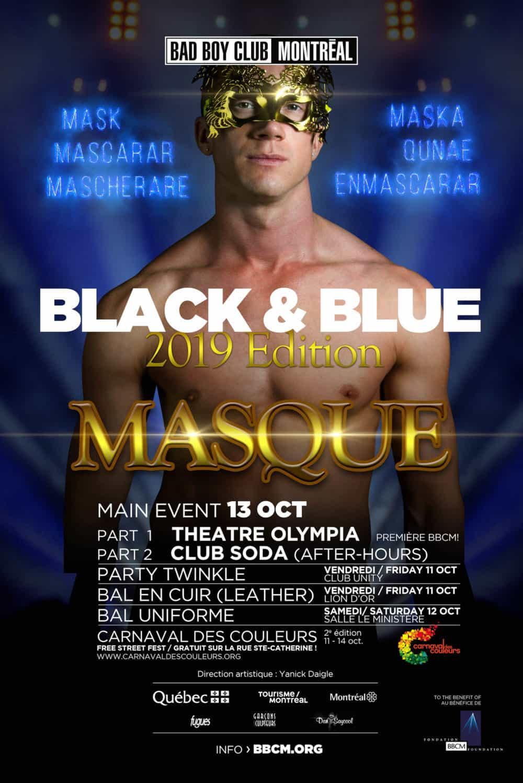 Zwart en blauw Montreal 2019