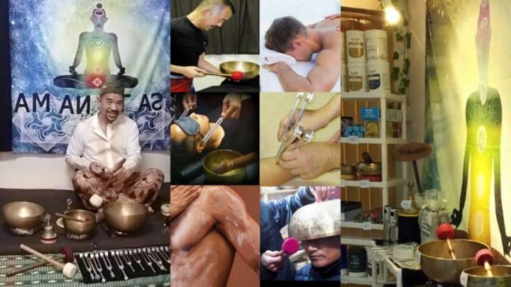 Θεραπεία μασάζ, θεραπεία ήχου και κατάστημα ST
