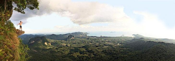 Vista di Krabi dalle montagne
