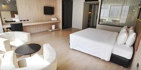 Gästezimmer im Heritage Silom Hotel Bangkok