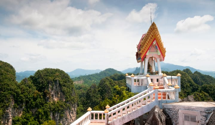 View of Tiger Temple in Krabi