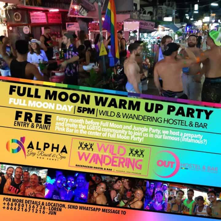 Full Moon Warm Up Party