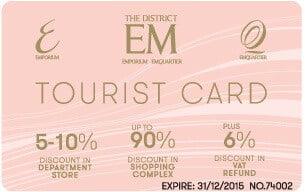 Em Quartier Pink Gold Tourist Card