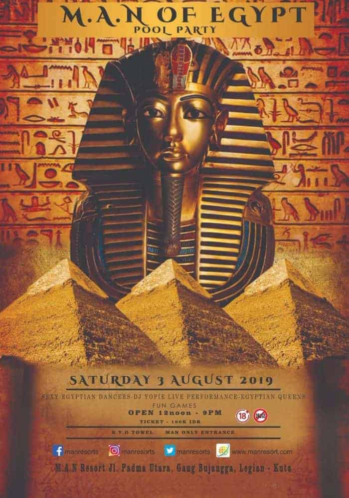 MAN Of Egypt Pool Party