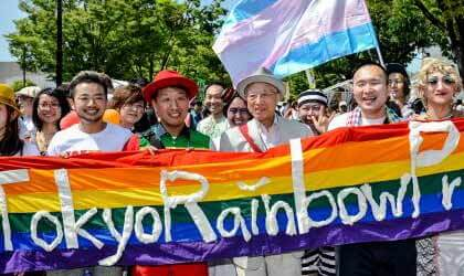 Surprise Appearance At Tokyo Pride 2014