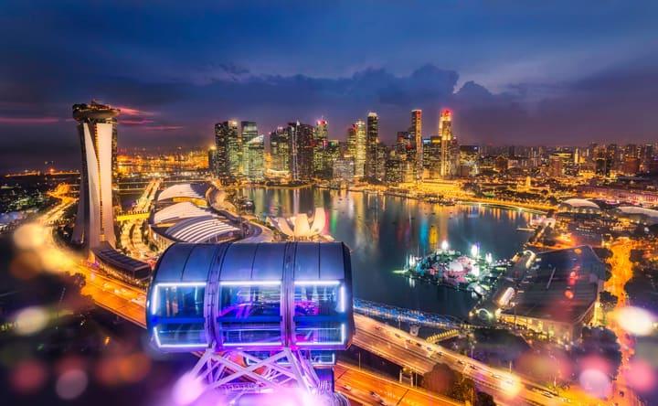 سنغافورة عرض المدينة من سنغافورة نشرة إعلانية