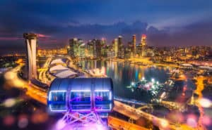 city view from Singapore Flyer