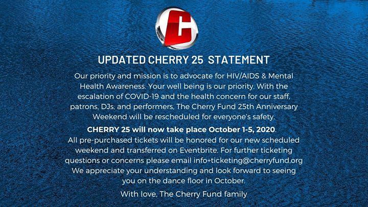 The Cherry Fund 25th Anniversary (RESCHEDULED)