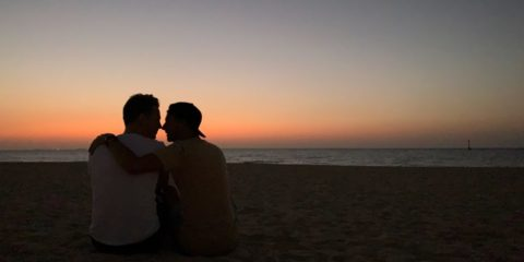 Gay couple in Dubai
