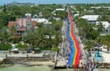 Key West Pride Rainbow Flag