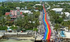 Key West Pride Rainbow Flag