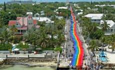 Bandeira do orgulho do arco-íris de Key West