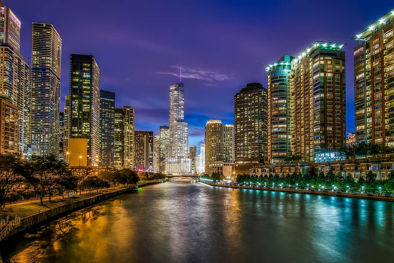 Chicago Gay kort