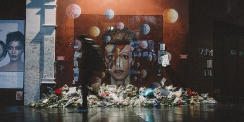 David Bowie veggmaleri Brixton