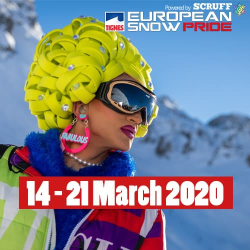 European Snow Pride 2022, Tignes, Europe's biggest gay ski week